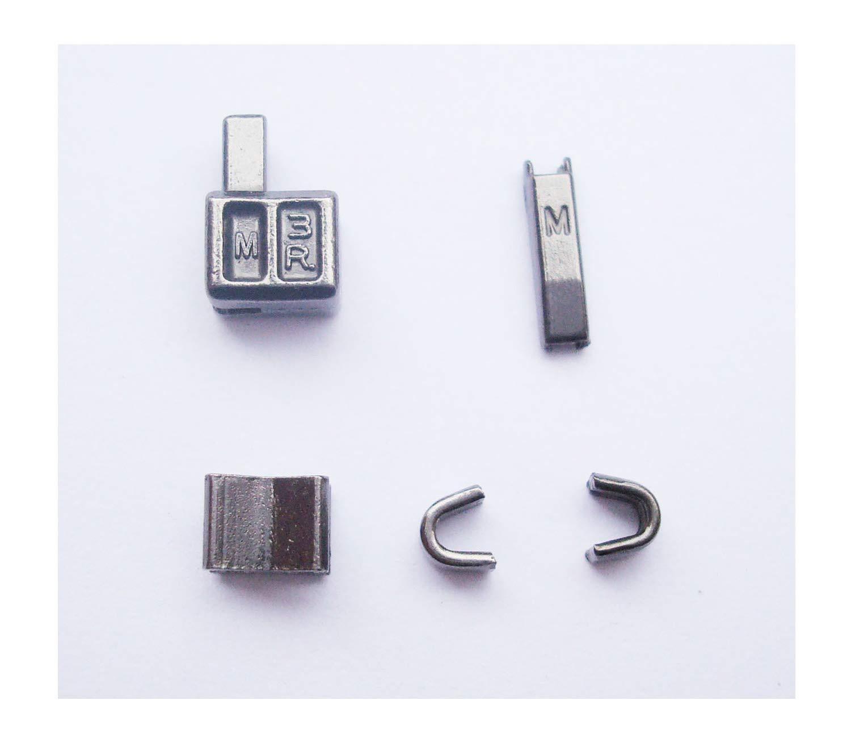 2 Sets Gunmetal # 3 caja de cabeza de cremallera de metal tirador de cremallera deslizadores de cremallera de reemplazos para Pin de inserción fácil para Kit de reparación de cremallera (# 3): Amazon.es: Hogar
