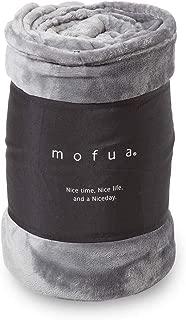 mofua(モフア) 毛布 シングル オールシーズン快適 エアコン対策 マイクロファイバー 洗える 140×200cm グレー 50000113