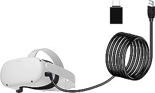 Seltureone Oculus Quest/Quest 2用ケーブル Oculus Link対応 5メートル TYPE A to C アダプタ付属 USB 3.2 Gen 1 3A 5Gbps高速データ転送 USB-C機器対応 オキュラス ...
