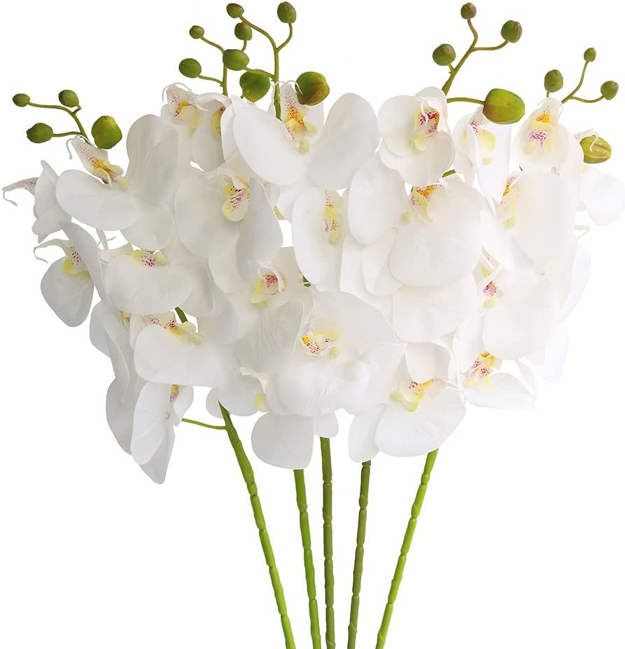 Htmeing 5 Pcs Artificial Max 77% OFF Butterfly Max 44% OFF Orchid Flowers Pl Flower Fake