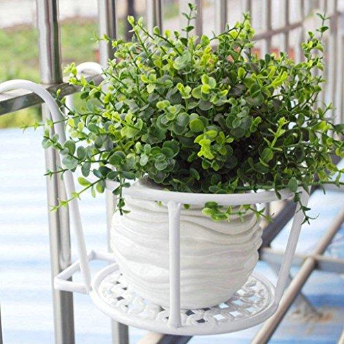 Étagères d'angle Support de fleur européenne balcon balustrade de balustrade en fer forgé araignée orchidée nain vert suspendus support de pot de fleur étagère de garde-corps de seuil de fenêtre suspe