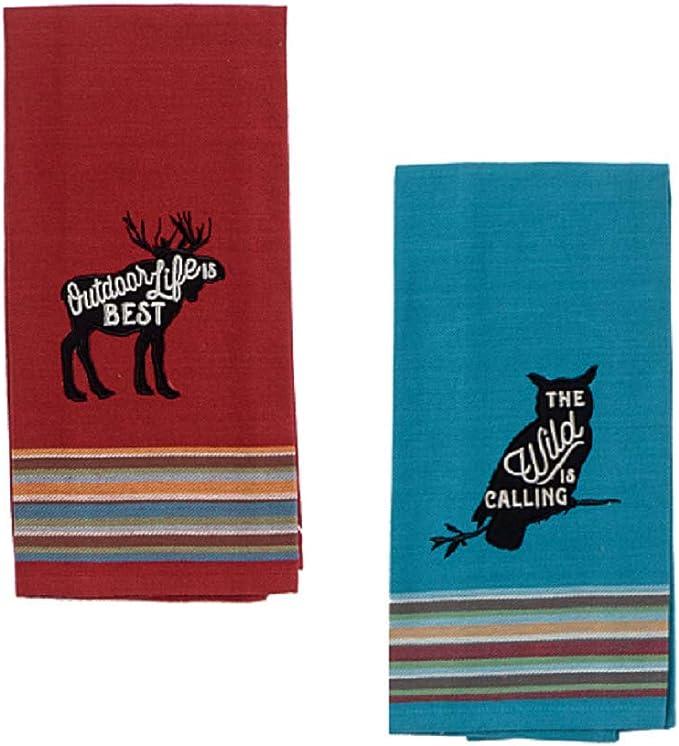 New Wildlife Owl Love Dish Towel Hand Tea Towel Terry Cotton Towels 5 Pk