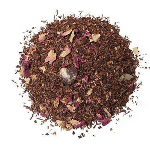 Aromas de Té - Rooibos Tee mit Erdbeerstücken Rosenblüten, Verdauungsfördernd, reich an Vitamin C, 50 gr