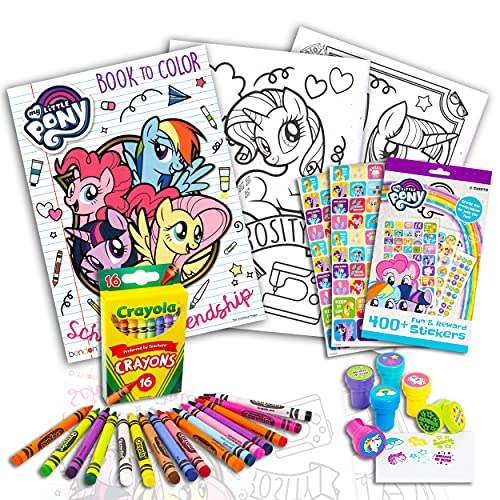 Bendon My Little Pony Coloring & Activity Book with MLP Fun and Reward Stickers, Crayons and Stampers