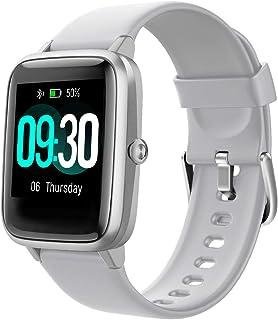 Willful Reloj inteligente para teléfonos Android y teléfonos iOS compatible con iPhone Samsung, IP68 resistente al agua para natación, reloj inteligente de fitness, reloj de seguimiento de frecuencia cardíaca, relojes para hombres y mujeres (gris)