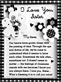 Blue Mountain Arts Miniature Easel Print with Magnet 'I Love You, Sister' 4.9 x 3.6 in., Perfect...