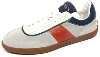 Tod's G3224 Sneaker Uomo Suede/Leather Grey/Blue Shoe Man