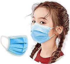 eHealth Pack x100 Masques Chirurgicaux Tissus Jetables pour Enfants 14.5cm x 9.5cm CE EN14683 Anti Projections, bactéries, Particules