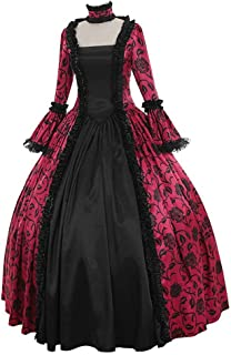 Sumeimiya Women's Victorian Rococo Dress Medieval Renaissance Gothic Dress Plus Size Bell Sleeve Fancy Party Petticoat
