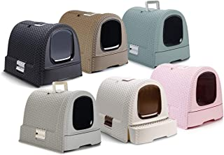 【Curver Pet Life Style】カーバーペットライフ 引き出し、スコップ、フィルター付きネコトイレ キャットリッターボックスキャットトイレ ピンク
