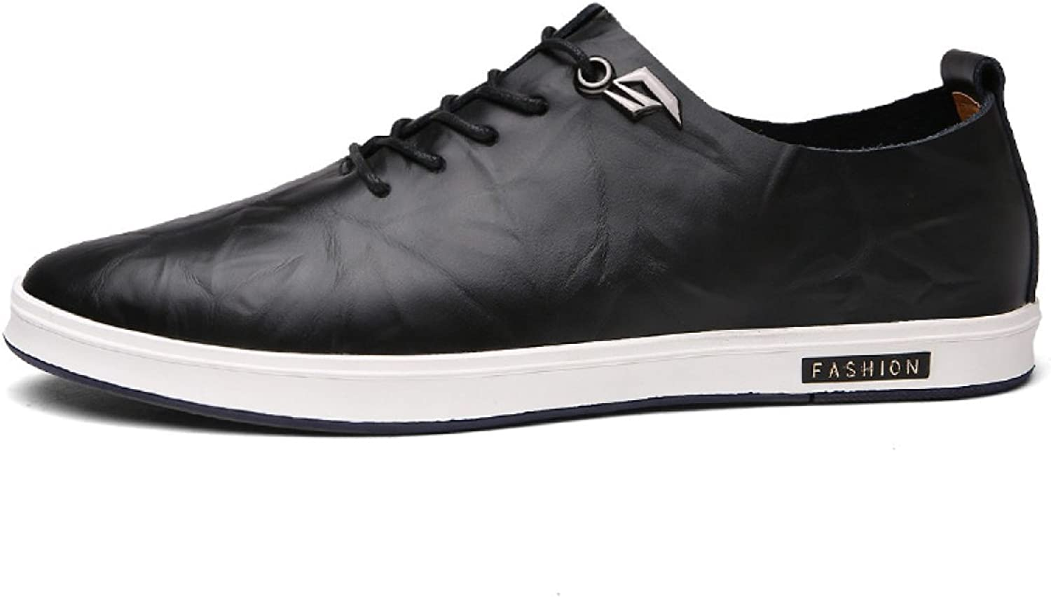 Men's Casual shoes Low To Help Tie Round Leather shoes Men's shoes