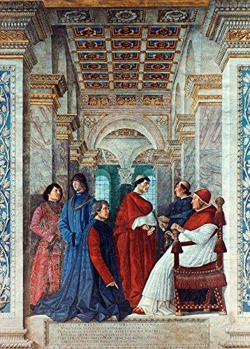 Posterazzi Poster Print Collection (1414-1484)./Melozzo Da Forli: Sixtus Iv and Il Platina. Fresco, 1477, (18 x 24), Varies