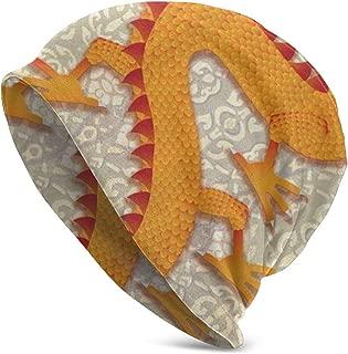 LFHJQUBA Chinese Lunar New Year Zodiac Dragon Vigorous Spirit Horoscope Summer Beanie for Men and Women - Slouchy Lightweight Chemo Cotton Fashion Hat