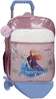 Disney Frozen Destiny Awaits Mochila con Carro Morado 32x42x15 cms Poliéster 20.16L
