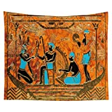 WERT Tapiz de faraón Egipcio, Tapiz de Tela para Colgar Junto a la Cama de la Familia, Tela de Fondo para decoración de la Vida, Tapiz de Tela A6 130x150cm