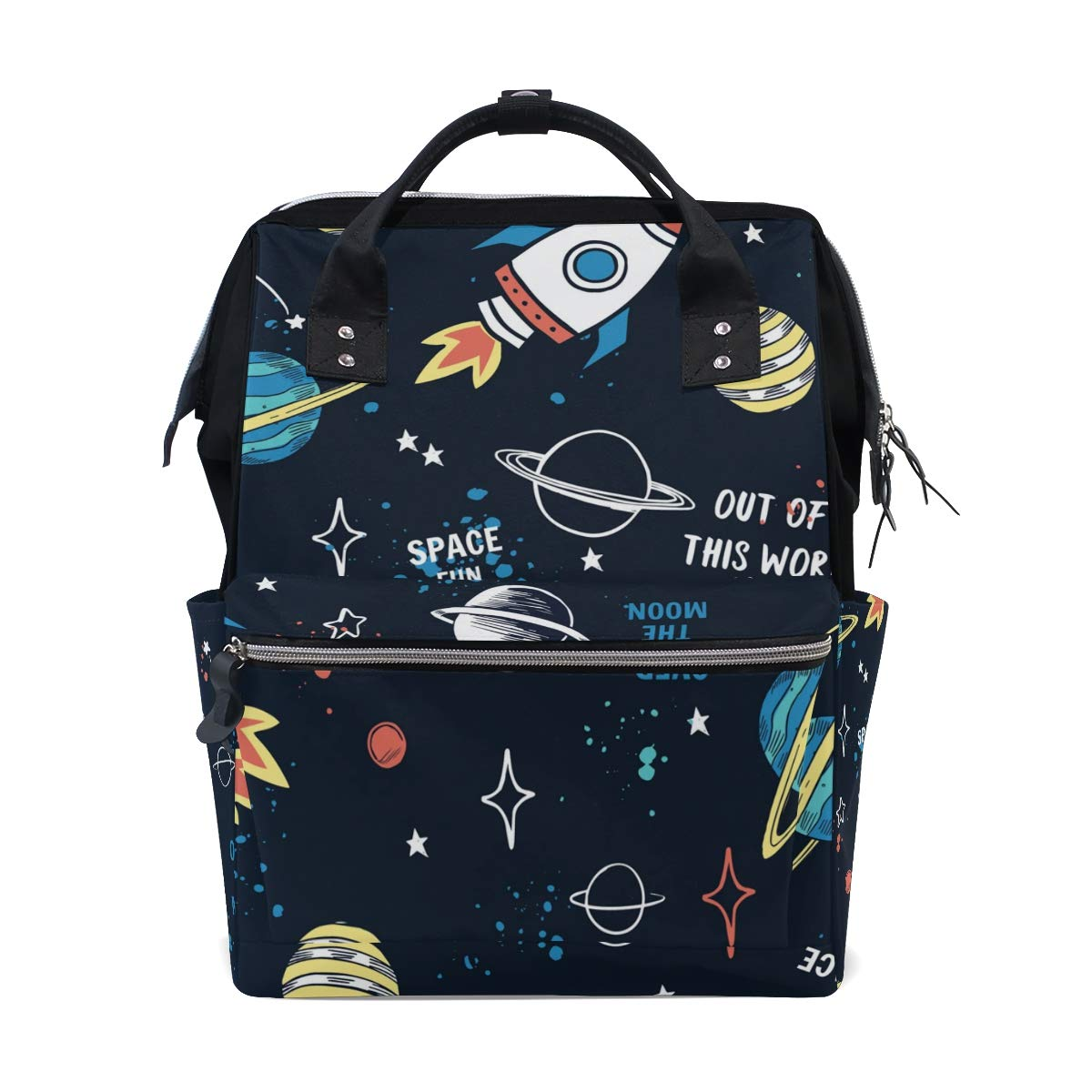 A Seed Baby Diaper Bag Backpack Tote Planet Rocket Star Galaxy Space Universe