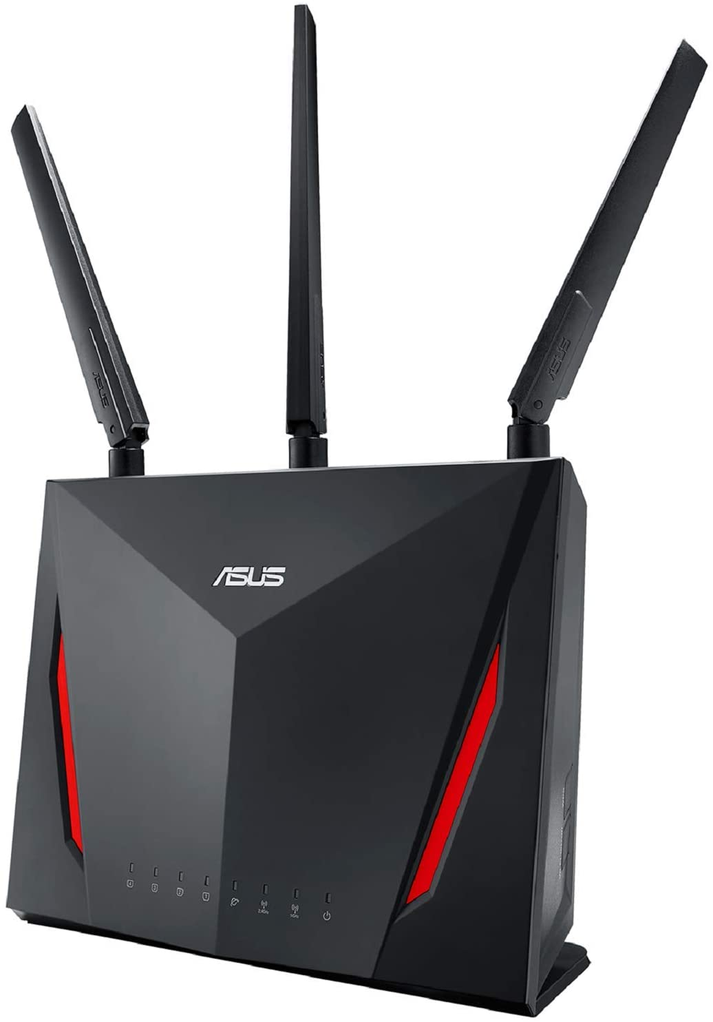 ASUS AC2900 WiFi Dual-band Gigabit Wireless Router with 1.8GHz Dual-core Processor and AiProtection Network Security Powered by Trend Micro, AiMesh Whole Home WiFi System Compatible (RT-AC86U)