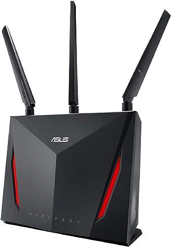 ASUS RT-AC86U, AC2900 Dual Band Gigabit WiFi Gaming Router with MU-MIMO, AiMesh for mesh wifi system,Black