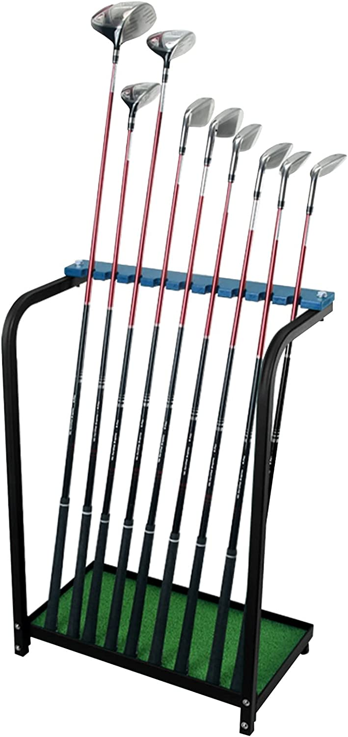 MIWOOYY Golf Club Safety and trust Rack Blue Baltimore Mall Holder Metal Outdoor