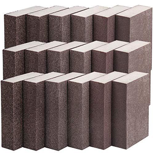 KEILEOHO 18 Pack Sanding Sponge, Coarse Medium Fine Superfine 6 Different Specifications Sanding Block, Washable and Reusable Sandpaper Block for Pot Brush Pan Brush Glasses Wood Sanding Metal Sanding