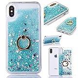 6City8Ni Paillettes en gel liquide Compatible avec iPhone 8/iPhone 7 Transparent iPhone 11 Vert