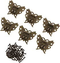 6 stuks antieke vlinders doos sluiting doos slot kist sluiting doos sluiting