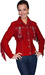 Scully Women's Suede Fringe and Beaded Jacket