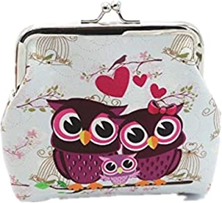 Coin Purse, Mikey Store Women Lady Retro Vintage Owl Small Wallet Hasp Purse Clutch Bag