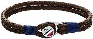 اسوارة تومي هيلفجر للرجال من جلد التمساح البني بزر - 2790196S