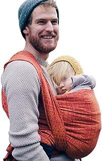 DIDYMOS Woven Wrap Baby Carrier Prima Ruby/Mandarin (Organic Cotton), Size 6
