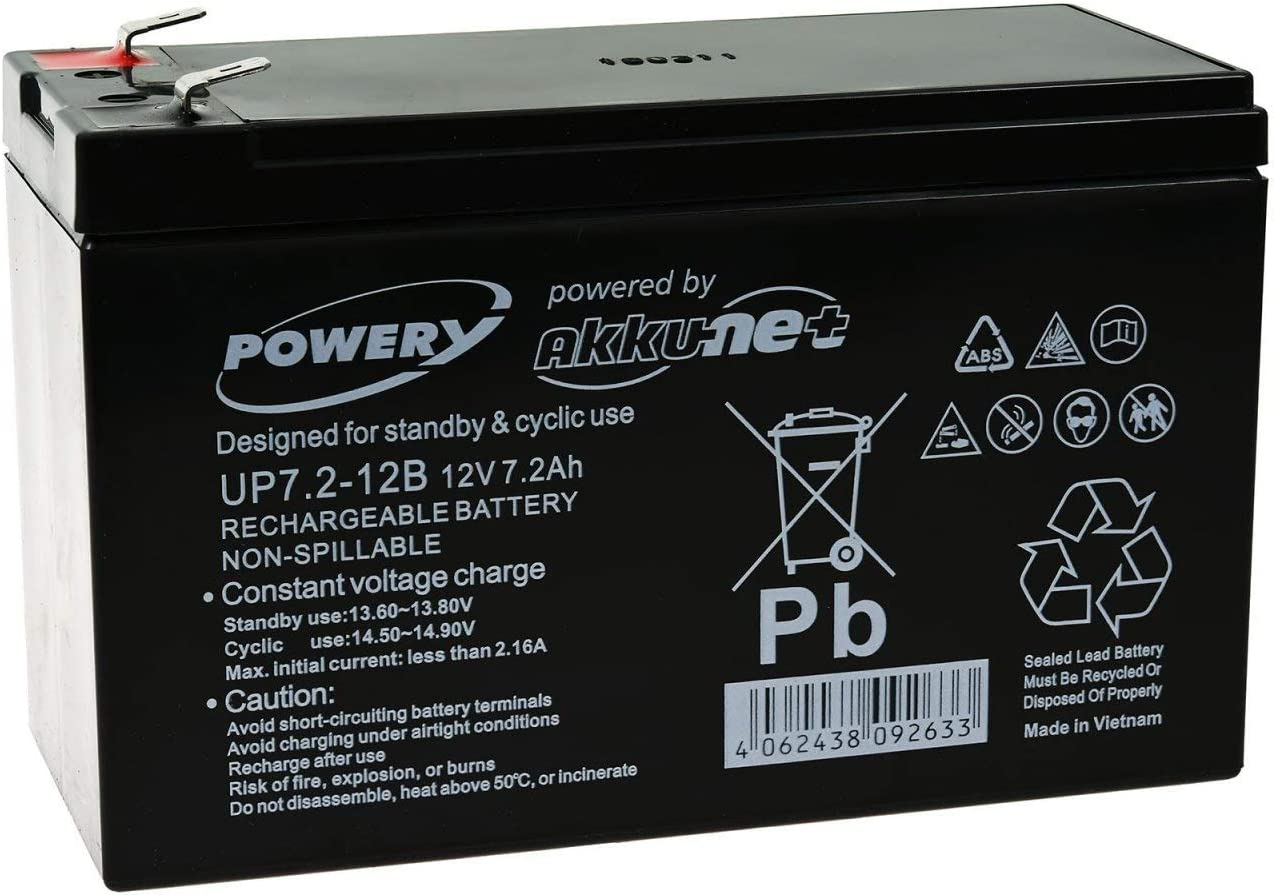 Powery Batería Plomo de Gel de Reemplazo para SAI APC BP420IPNP