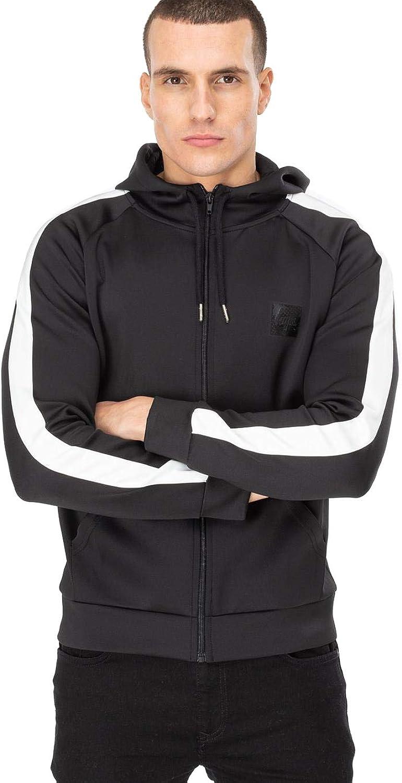 Hype Black Poly Stripe Men's Zip Hoodie