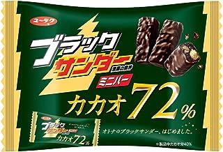有楽製菓 ブラックサンダーミニバーカカオ72% 155g ×6袋