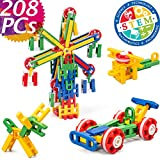 Product Image of the Cossy STEM Learning Toy Engineering Construction Building Blocks 208 Pieces Kids...