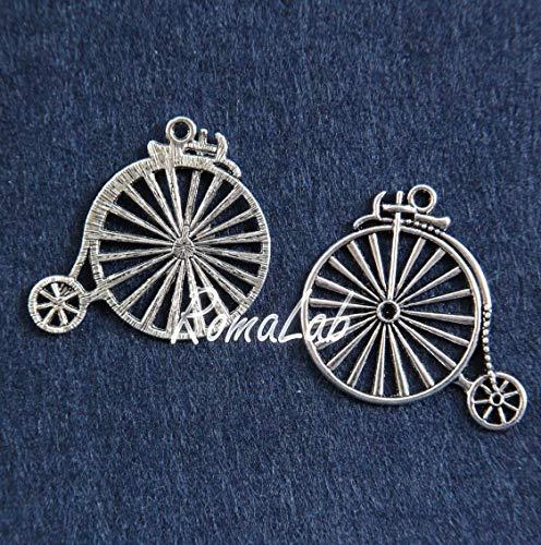 RomaLab 2 Anhänger Fahrräder aus Tibetischem Silber, Steampunk, Vintage-Anhänger