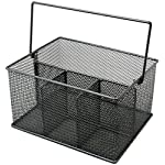 Sorbus-Utensil-Caddy–Silverware-Napkin-Holder-and-Condiment-Organizer–Multi-Purpose-Steel-Mesh-CaddyIdeal-for-Kitchen-Dining-Entertaining-Tailgating-Picnics-and-much-more
