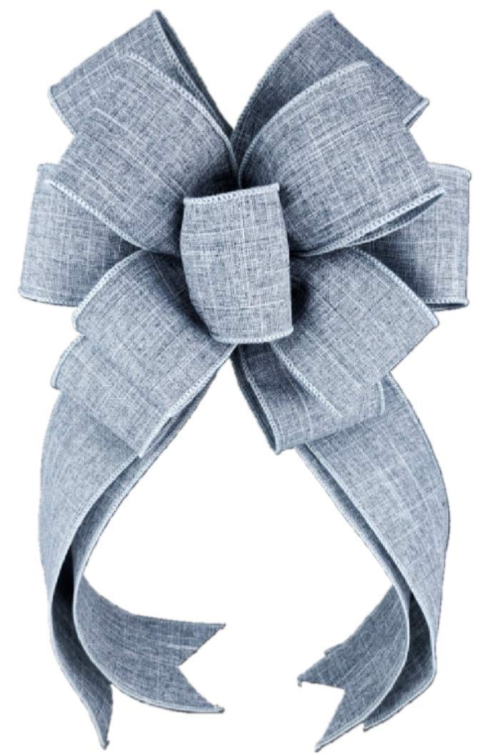 Easy-to-use Solid Grey Bow for Wreath x 18 10 Ranking TOP11 inches