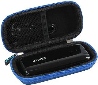 Anleo 硬质旅行箱适用于 Anker Astro E1 5200mAh 糖果条形尺寸超紧凑便携式充电器 蓝色