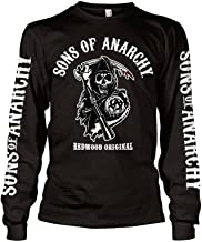 Sons of Anarchy Officially Licensed Redwood Original Long Sleeve T-Shirt (Black)