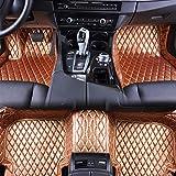 Jiahe El Alfombra Coche para Volvo XC70 2007-2015 Alfombra Personalizada Coche para Cuero Esteras Coche Antideslizantes Alfombrillas Moqueta Impermeables Set Rojo