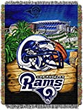 Officially Licensed NFL Los Angeles Rams 'Home Field Advantage' Woven Tapestry Throw Blanket, 48' x 60', Multi Color