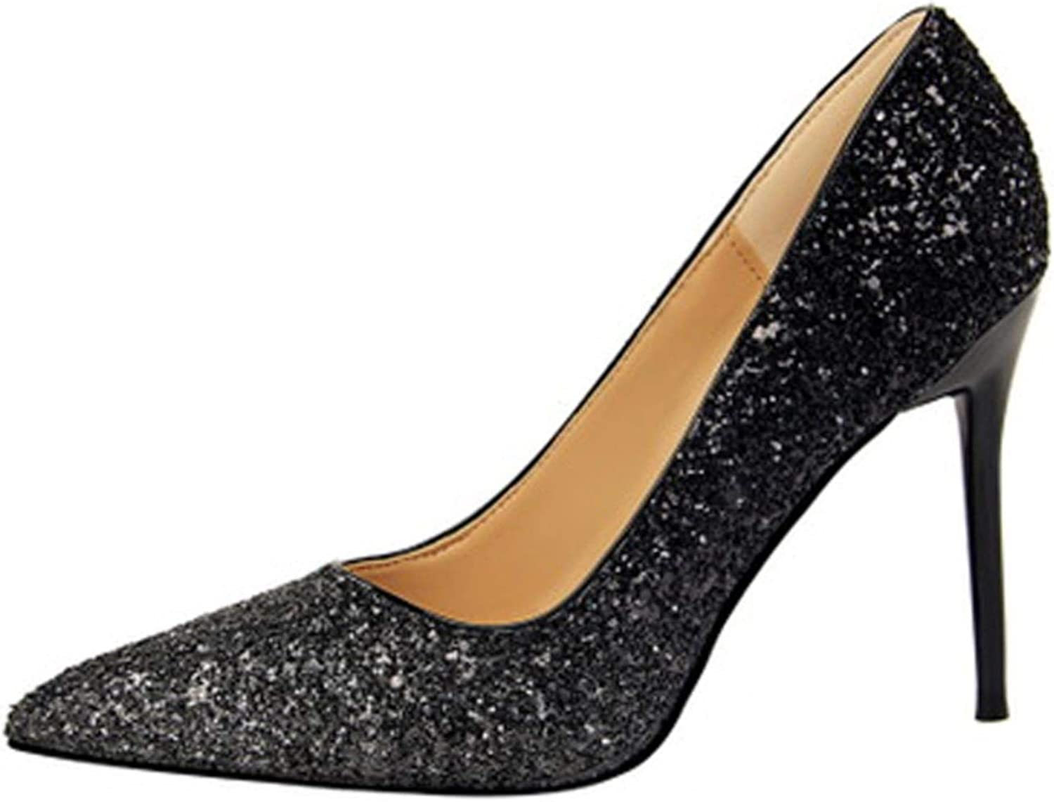 Women's shallow pointed thin section sexy party high heels