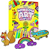 Window Art Paint Kit for Kids - Arts and Crafts for Girls & Boys Ages 6-12 - Craft Kits Art Set - Supplies for Painting Suncatchers - Best Paint Gift, Ideas for Kids Activities Age 6 7 8 9 10
