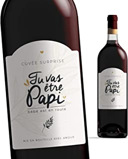 Etiquette bouteille papi | Tu vas être papi, bébé est en route | Manahia | Etiquette vin annonce naissance - Annonce gross...