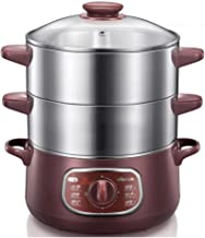 DIAOD Double-layer Stainless Steel Electric Food Steamer 8L Automatic Electric Steamer 90 Mins Twist Timing Hot Pot