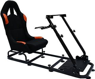 FK Automotive Game Seat Spielsitz für PC und Spielekonsolen Stoff schwarz/orange