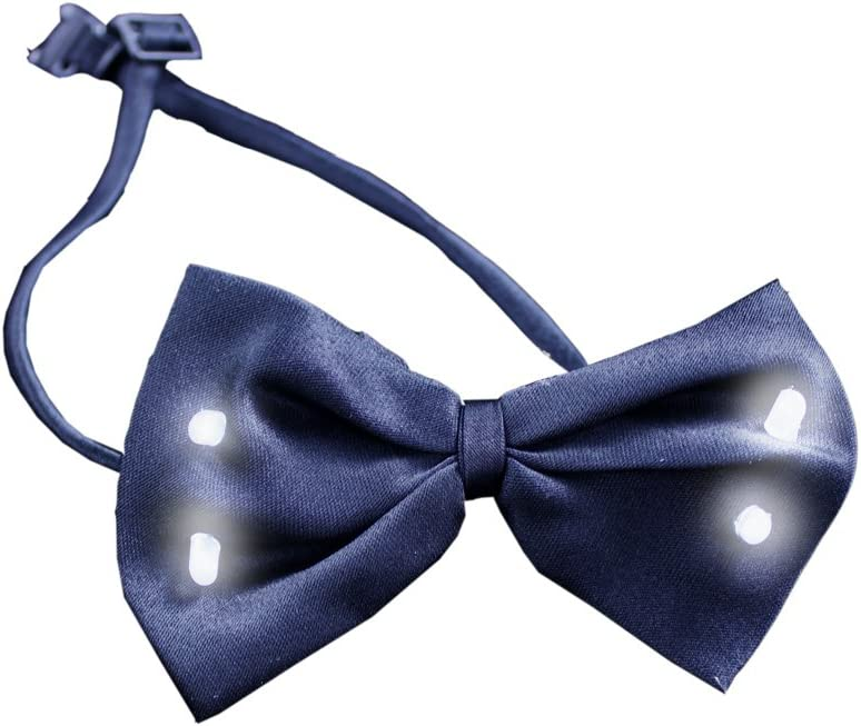 Fun Central G729 LED Light Up Bow Tie Black