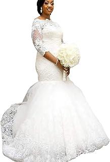b1a9dbc55cd Yuxin Elegant Plus Size Wedding Dress 2018 Long Sleeves Appliqued Lace  Mermaid Bridal Gowns