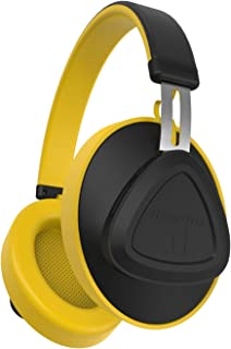 Bluedio TM Bluetooth Headphones Over-Ear Bluetooth 5.0 Voice Control Stereo Wireless Headsets for Music& Call,Built-in Mic,Yellow