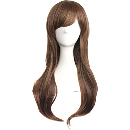MapofBeauty 28 70cm Long Curly Hair Ends Costume Cosplay Wig Light Brown